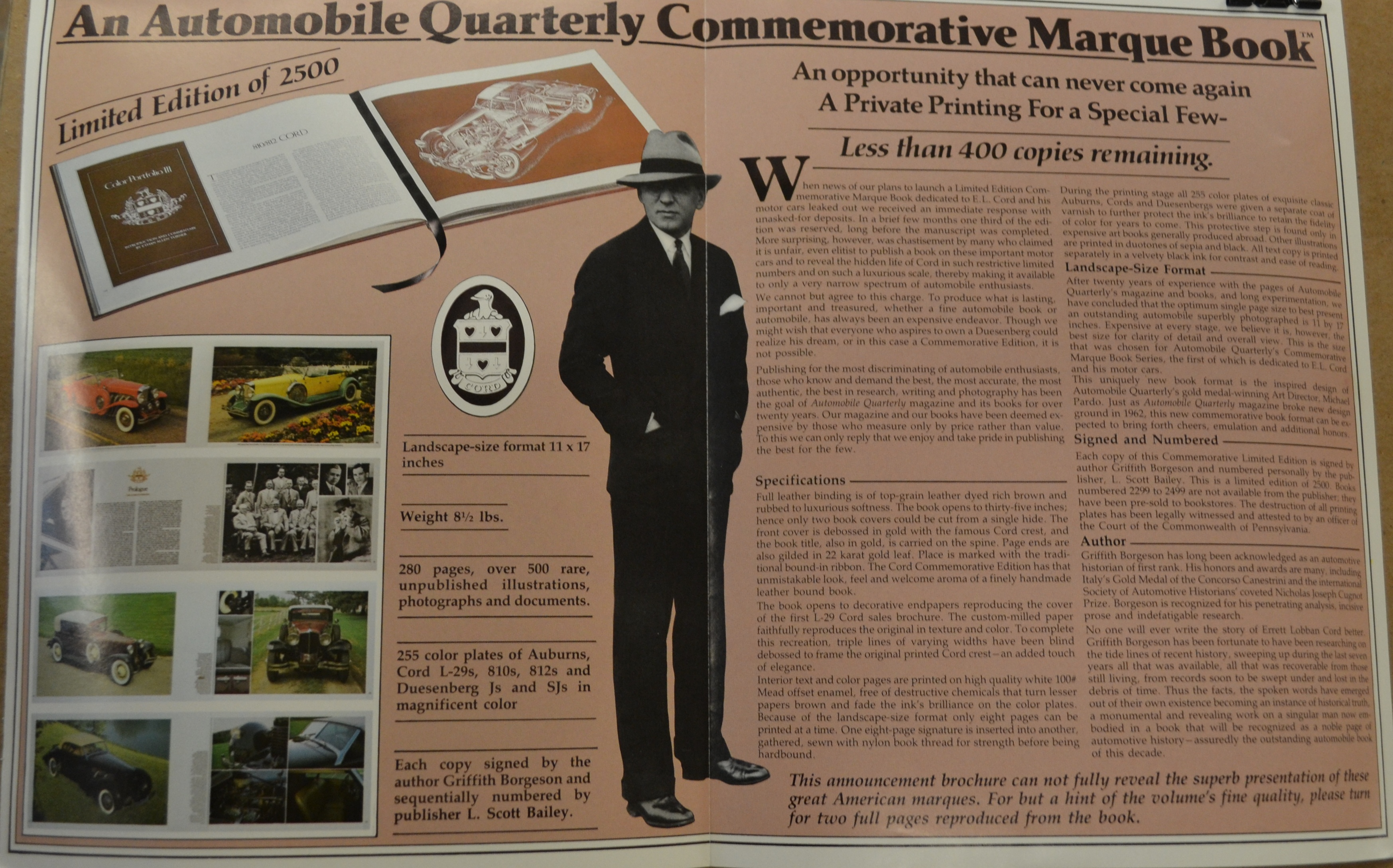 306 - QUARTERLY COMEMORATIVE MARQUE BOOK