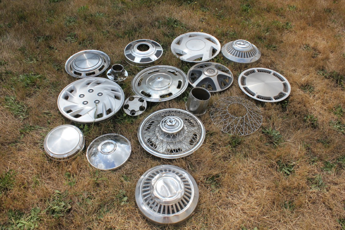 Lot 802- Hub Cap Wall Art